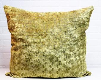 Gold & Grey Oversized Decor Pillow