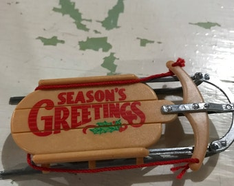 Hallmark 1984 Season's Greeting sled ornament (ornament only)