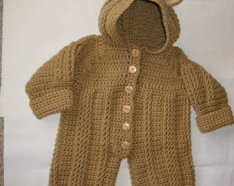 Crochet Teddy Bear Coverall