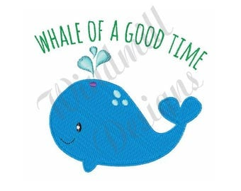 Whale Of A Good Time - Machine Embroidery Design