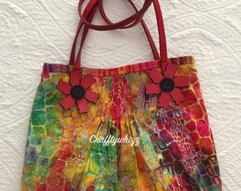 Flower Wheel Shoulder Bag Purse