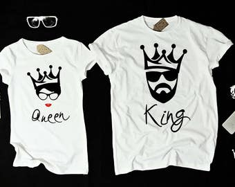 "T-shirts for couple ""KING and QUEEN"""