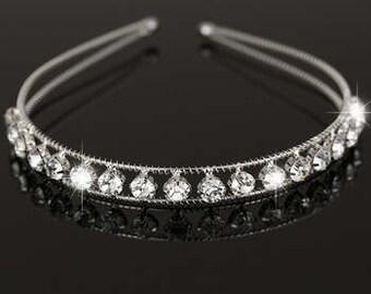 Silver & Crystal Headband - Wedding, Bride, Bridesmaid