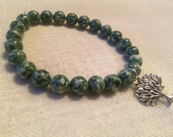 Tree Of Life Bracelet. Tree Agate Gemstone Jewelry.