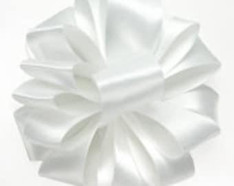 White Satin Ribbon ~ Ribbon by the yard ~ White Double Faced Satin Ribbon