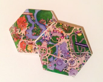 Disney Coasters (Two piece map set)