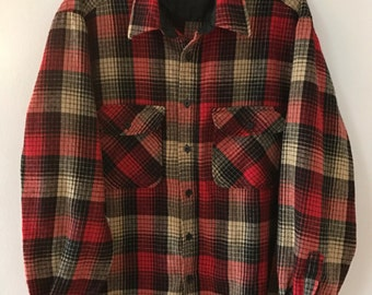 Vintage Sears & Roebuck flannel shirt