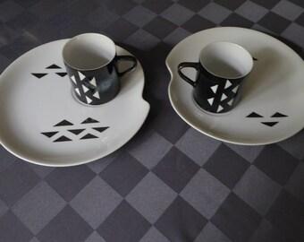 Mid Century Modern Atomic Snack Set - Plate and Mug - Japan (2)