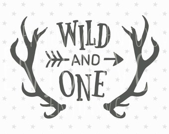 Wild and One SVG Files Baby Birthday svg Wild One Svg Cut file Baby SVG Silhouette Cricut Svg Horns svg Cutting svg fileIndian SVG Aztec svg