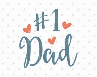 One Dad svg file Fathers Day svg file One Dad SVG Best Dad svg Gift For Father's Day svg Blessed Dad svg Fathers Day svg Worlds Best Dad svg
