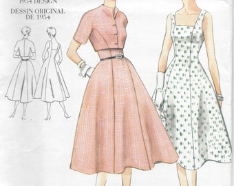 "1954 Vintage VOGUE Sewing Pattern B34"" DRESS & BOLERO (R407)  Vogue  2267"