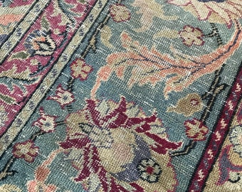 Vintage Rug, Shabby Chic, Cottage Style, Turkish Rug, Well Worn with Love