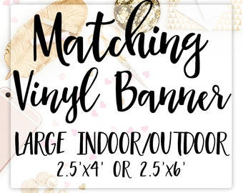 Vinyl Banner, Party Banner, Printed Birthday Banner, Large Banner