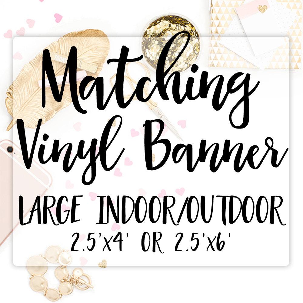 Vinyl Banner Party Banner Printed Birthday Banner Large