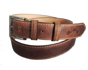 StreetRIDER® Motorcycle Leather Belt brown