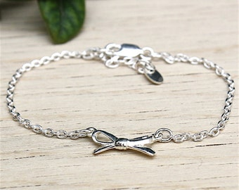 silver bracelet solid knot on string