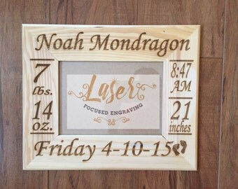 Personalized Baby Picture Frame. Welcome Home Baby. Custom Baby Frame. Welcome baby boy. Welcome baby girl