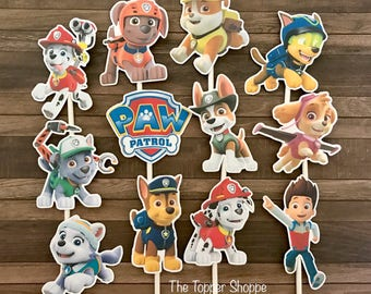 PAW PATROL Cupcake Toppers / Cake Toppers / Die Cuts / Birthday Party / Decorations / Cake Pops / Supplies / Decor / Fast Shipping