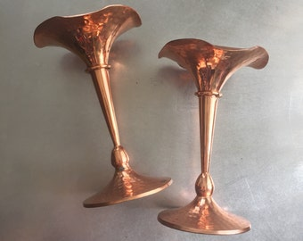 Rose Gold Candle Holder • Pair of Candlesticks