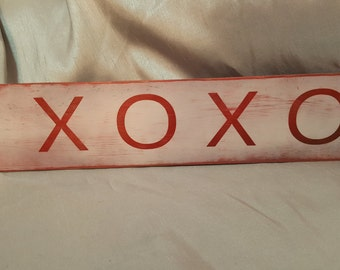 XOXOValentines Day hand made painted wood sign