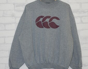 Vintage Canterbury Of New Zealand Rugby Sweatshirt All Black Streetwear