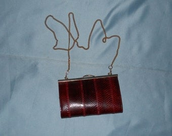 Authentic vintage bag! Python and genuine leather!