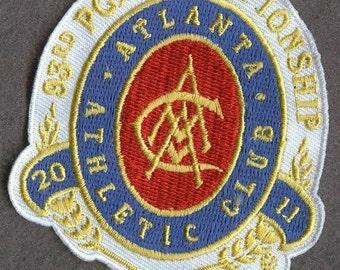 2011 93rd PGA Championship Atlanta Athletic Club Golf Badge Embroidered Patch