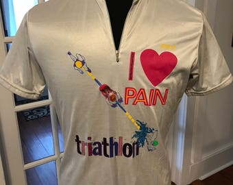 Vintage Pace Triathlon Cycling Shirt Hungtinton Beach California