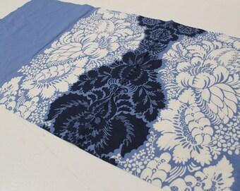 Vintage Marimekko Fabric Marimekko Table Cloth 1965 White Blue ANANAS Tablecloth Poppy Print Finnish Textile