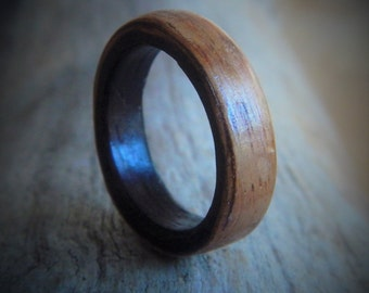Hand Made Wood Ring - Unisex Ring - Gift for Him - Couples Ring - Gift for Boyfriend - Rustic Wedding Ring - Friendship Ring - wood ring
