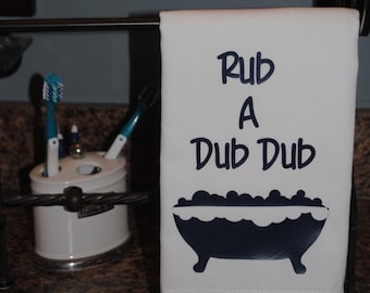 Rub a Dub Dub Tea Towel