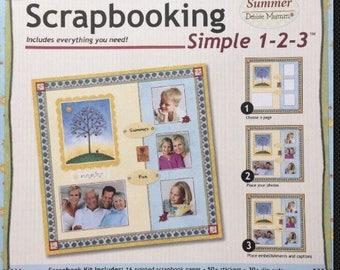 Scrapbooking Paper Boutique Scrapbooking Simple 1-2-3 * Summer