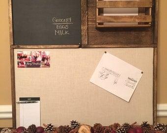 Wall Hanging Organizer / Cork Board / Chalk Board / Storage Box