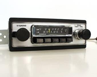 Chrome Pianola SR-601 oldtimer car radio, 1970s