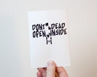 The Walking Dead  Birthday Card | Walking Dead Card