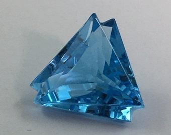 5 CT Fancy Cut Genuine Swiss Blue Topaz Gemstone 12x12 mm