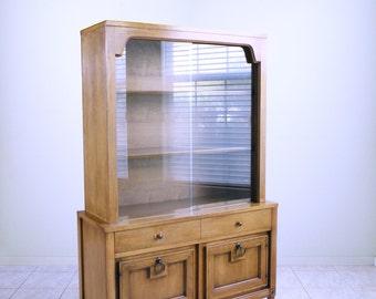 mid century modern china cabinet SPANISH REVIVAL minimalist hutch by Basic Witz