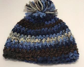 Warm blue winter hat