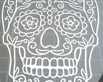 Dia de Los Muertos sugar skulls day of the dead car truck laptop