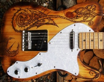 Pyrograph partscaster - one of a kind T Type electric guitar