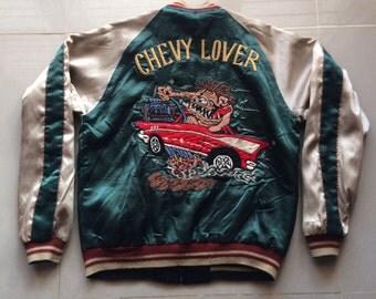 Vintage Japanese TAILOR TOYO Chevy Lover Sukajan Jacket