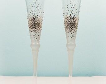 "Wedding glasses ""Silver radiancy"""