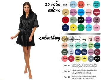 Cheap bridesmaid robes, Satin robes for bridesmaids, Personalized robes, Kimono Satin, Bridemaid robes, Personalized bride robe, Gift set