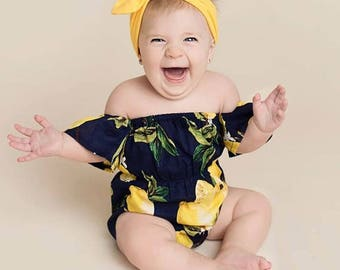 Yellow Limes Romper