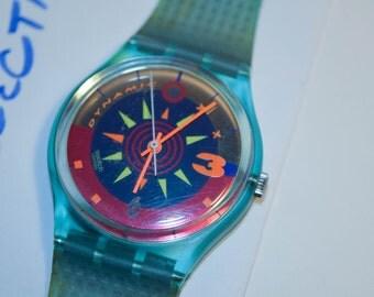 Rare Vintage 1983 Swatch Watch Soleil GL105