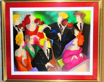 Linda Le Kinff, Concert a Vienna, serigraph pencil signed pp 43/53 with COA