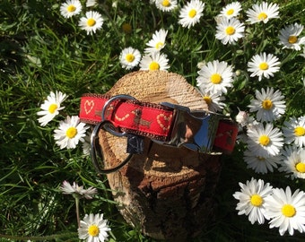 "Dog collar ""Dachshund red"""