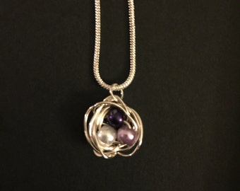 Nest wire wrap necklace