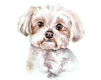 custom pet portrait dog cat horse animal gift idea wall art home decor watercolor, pencil, pastel, oil
