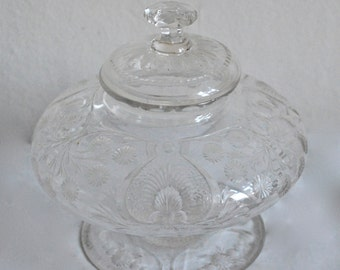 19th C. Victorian Sweet Meat Dish Cut and Frosted Hand Blown Crystal.